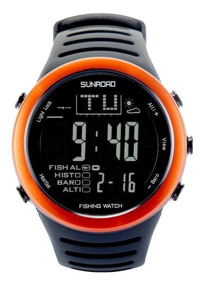 Relógio Masculino Barômetro, Altímetro, Termômetro, Pesca...