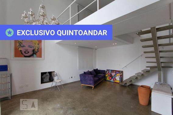 Apartamento No 10º Andar Com 1 Dormitório E 2 Garagens - Id: 892988636 - 288636