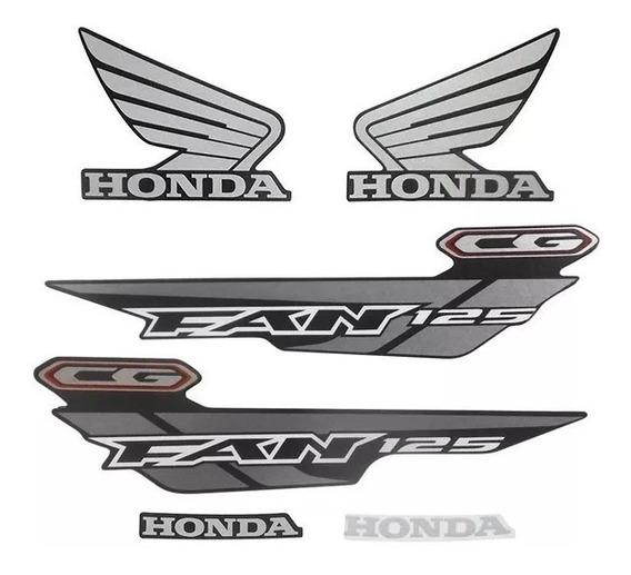 Kit Adesivos Honda Fan 125 Es Esd 2014 Preta