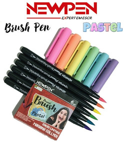 Caneta Pincel Brush Pastel Mariana Collyer Com 6 Newpen