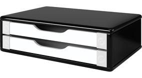 Suporte P/ Monitor Souza Black Piano C/ 2 Gavetas 3348