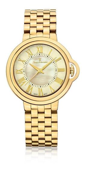 Relógio Pulso Jean Vernier Analógico Aço Masculino Jv01150
