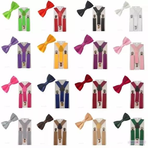 Lote Com 12 Kits Suspensório+ Gravata Borboleta Ref: 244/247