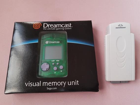 Vmu Dreamcast Novo + Tremor Pack Dreamcast Novo! Sem Uso!