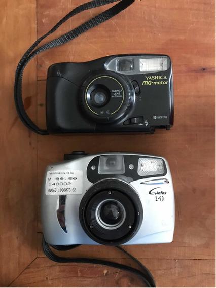 2 Câmeras Antigas Analógicas Yashica E Infax No Estado