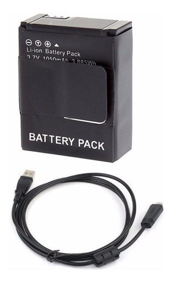 Kit 2 Bateria Para Hero3+ + Cabo Usb Para Gopro Hero3