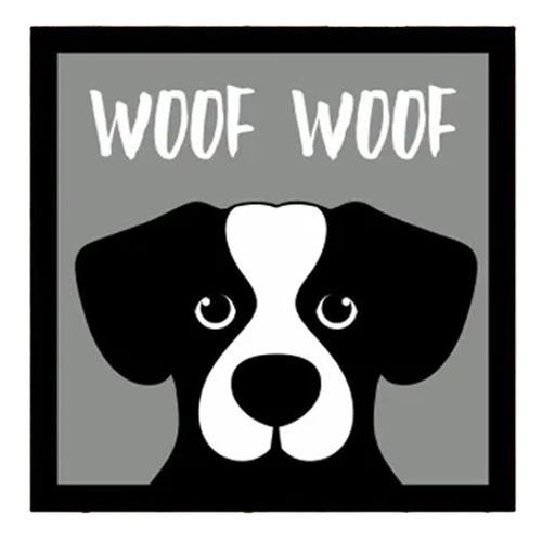 Placa Decorativa Divertida Pet Cão Cachorro Latido Woof Woof