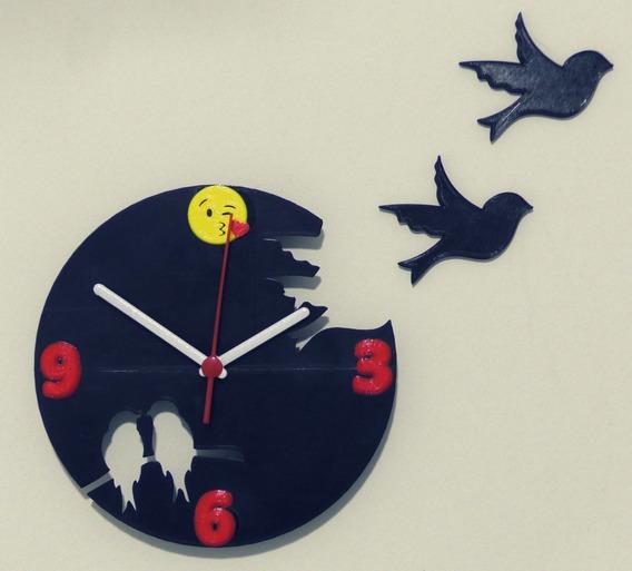 Relógio Parede Moderno Pássaros * Presente Lembrancinha