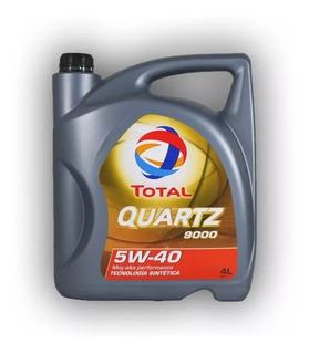 Aceite Total Quartz 9000 5w40 Nafta Diesel Sintetico X 4 L