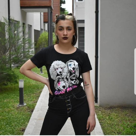 Remera Algodon Glam Metal Mujer