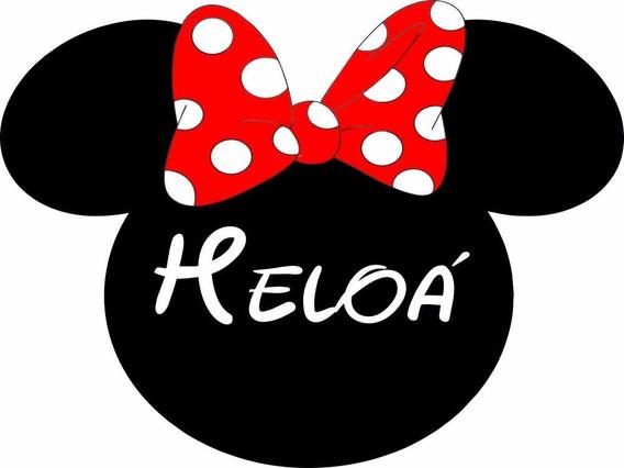Placa Tag Personalizada Disney Mickey E Minnie Aniversário