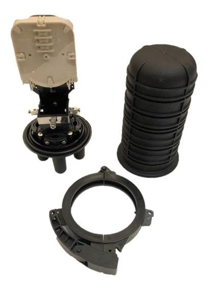 6 X Caixa Emenda Fibra Óptica 24fo Mini Ceo Termo + Nfe