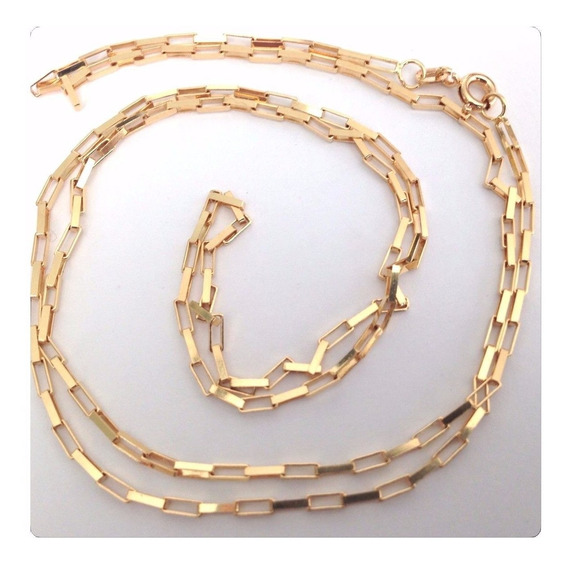 Cordão Cadeado Corrente Grossa 70cm Masculino Ouro18k Maciço