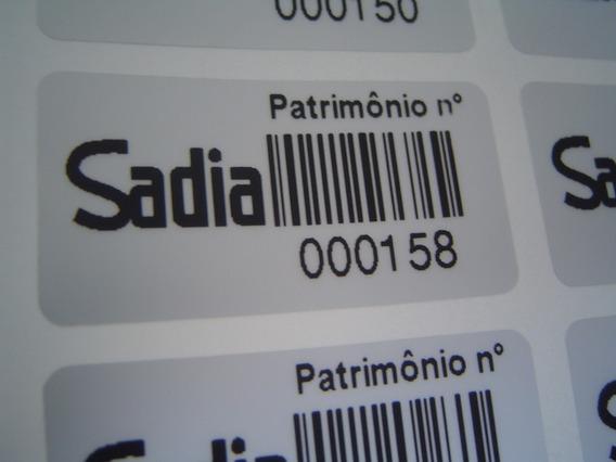 5.000 Etiqueta Adesiva Patrimônio Personalizada 40x20mm