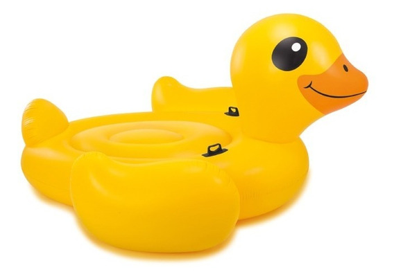 Inflable Forma Pato Gigante Montable Alberca Adulto Intex