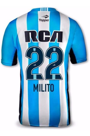 Camiseta Racing Club 2016 Topper #22 Milito