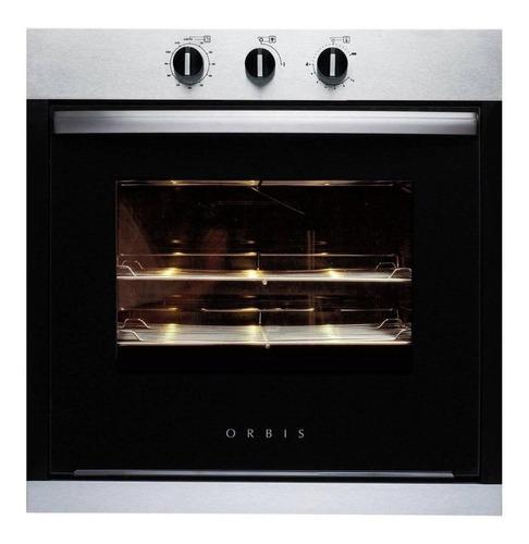 Horno empotrable a gas con grill eléctrico Orbis 960 70L acero/negro 220V