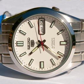 Relógio Seiko 5 Japan Automático Snke79j1 Fundo Branco