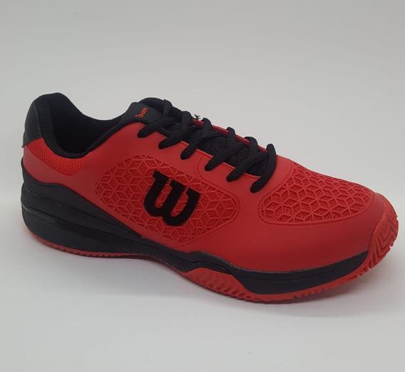 Zapatillas Tenis Wilson Match Hombre Red/black (l1m3)