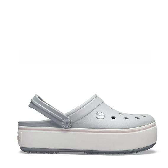Crocs Crocband Plataforma Lgh Grey/rose Originales 1104