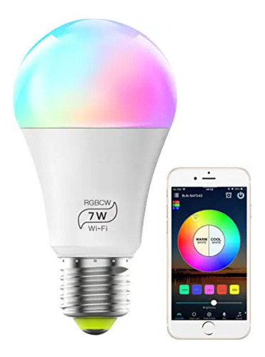 Bombillo Inteligente Multicolor Led Wifi, Alexa, Google Home