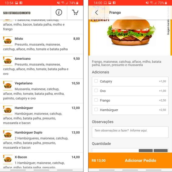 Aplicativo Delivery   App   Pedidos Online   Leia Descrição