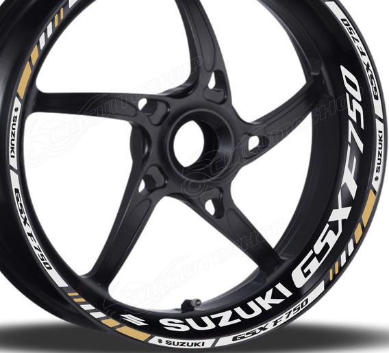 Friso + Adesivo Refletivo Roda M4 Moto Suzuki Gsx 750 F 750f