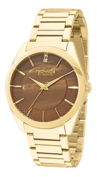 Relógio Feminino Technos Dourado 2036lou/4a