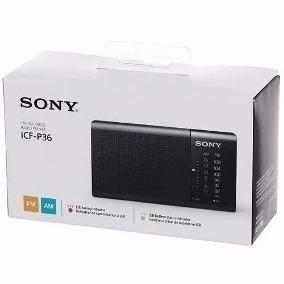 Rádio Portátil Mini Bolso Original Sony Pilhas Am/fm Icf-p36