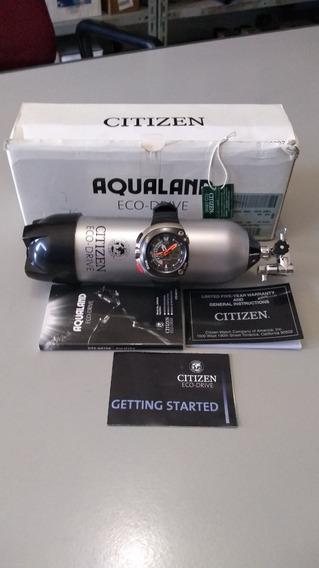 Citizen Aqualand Eco Drive Jv0030 Completo Meia Lua