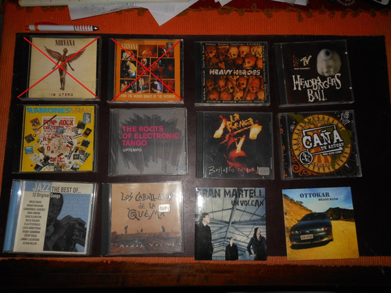 Lote Cds C/u La Renga, Metal, Jazz, Rock Nacional