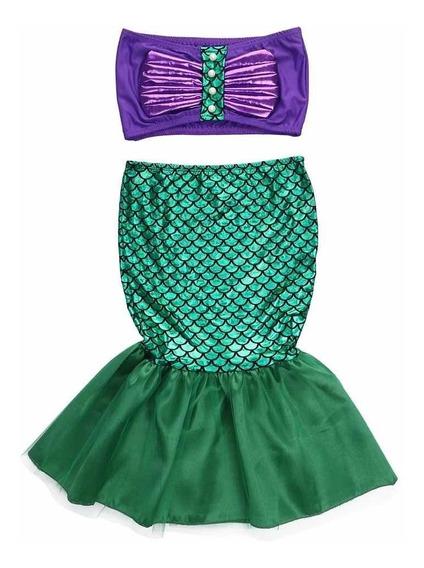 Disfraz Sirenita Ariel Princesa Envio Gratis