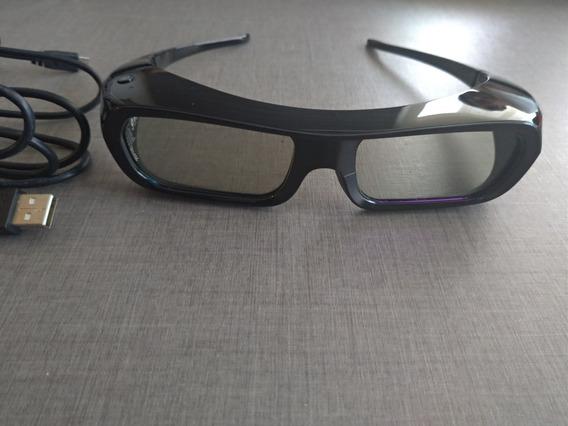 Kit 2 Óculos 3d Sony Fposz9x (cabo Usb+capa Pano, Sem Uso)
