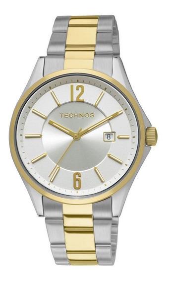 Relogio Technos Masculino Prata E Dourado 2115gw/5k