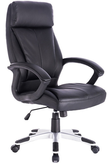 Cadeira Para Escritório Exeway Estofada, Preta
