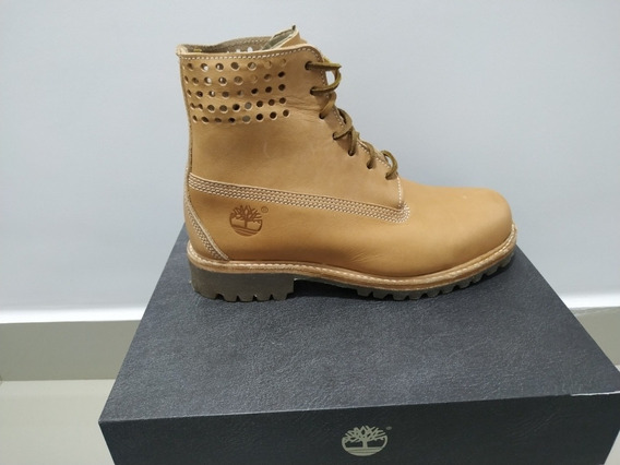 Bota Timberland Couro 6in Premium Performance Natural