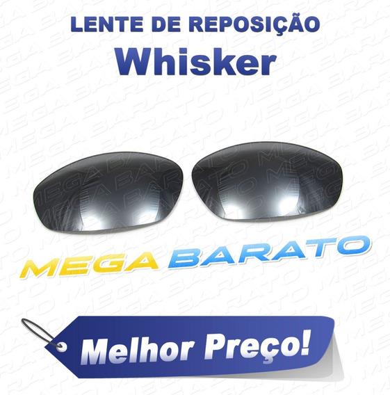 Lente Óculos Whisker Preto Cromo Black Chrome Polarizada