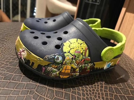 Crocs Infantil Tartarugas Ninja Tamanho 29