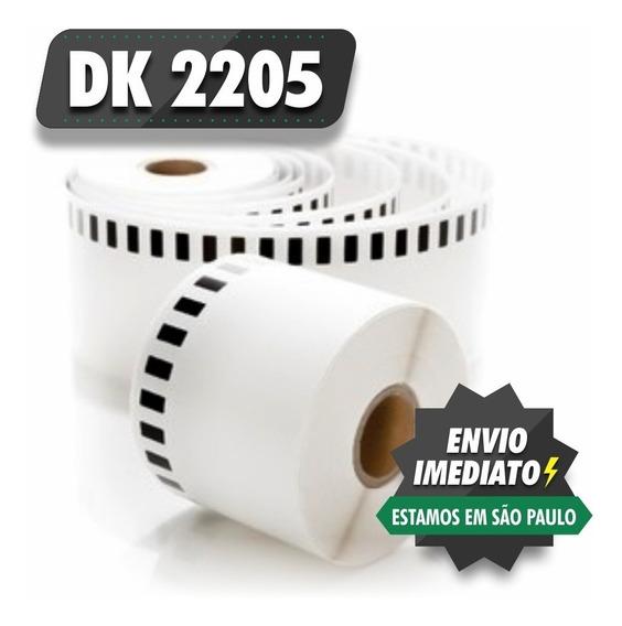 10 Rolos Dk 2205 Etiqueta Compativel 62x30m Dk2205 Phs