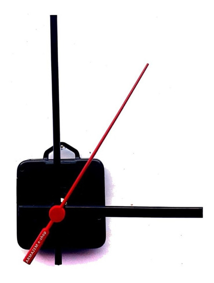 Kit Peças Para Relógio De Parede Mecanismo 22mm + Ponteiros