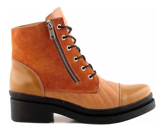 Borcego Mujer Bota Botienta Cuero Briganti Zapato Mcbo24613