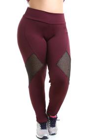 e54061942 Kit 5 Calças Legging Suplex Academia Fitness Plus Size 8754