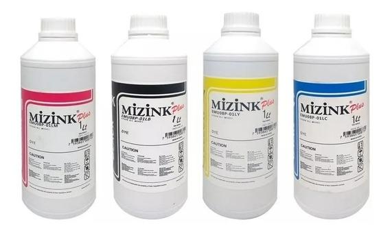 4 Litros Tinta Corante Mizink Epson Ecotank