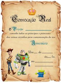 20 Convite Pergaminho Toy Story