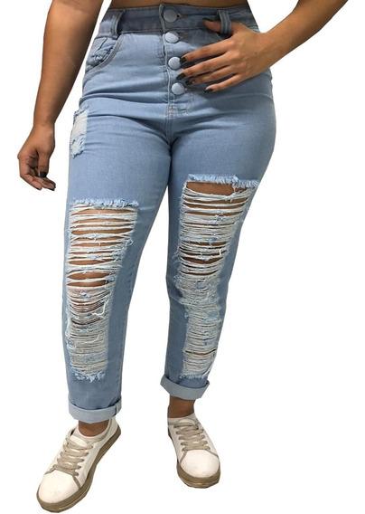 Calça Jeans Destroyed Mon Moda Instagram Boyfriend