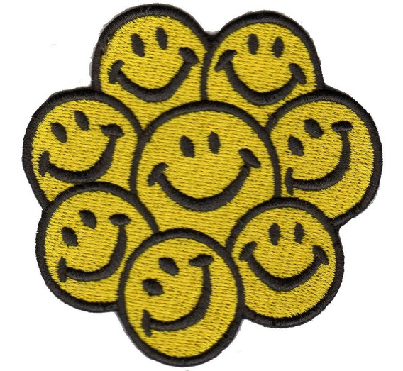 Patch Talysma P/ Camiseta Jaqueta Calça Jeans - Emoji Smiles