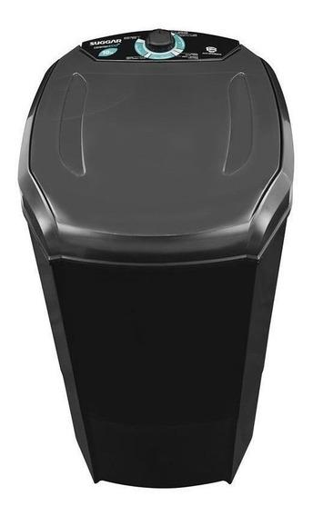 Lavadora de roupas semi-automática Suggar Lavamax Eco preta 10kg 110V