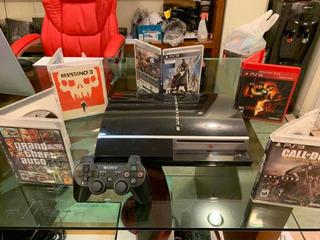 Playstation 3 Fat 5 Juegos Físicos Gta4 Acabado Piano