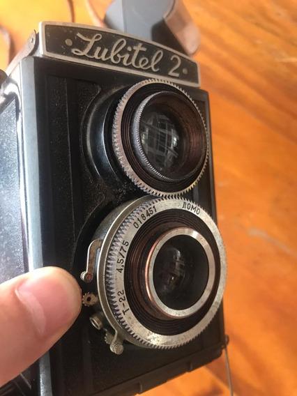 Lubitel 2 Máquina Fotográfica Clássica Analógica Vintage Tlr