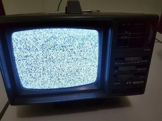 Tv Portátil 5 Polegadas Lasonic Branco E Preto Com Am/fm